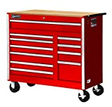 Williams 50766BLW 11 Drawer Super Value Roll Cabinet with Wood Top, 42'', Blue