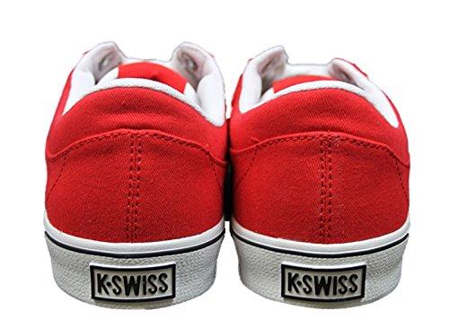 BRAND NEW MENS K. SWISS ADCOURT CVS-L RED-WHITE TRAINERS FOOTWEAR iiNEsbA