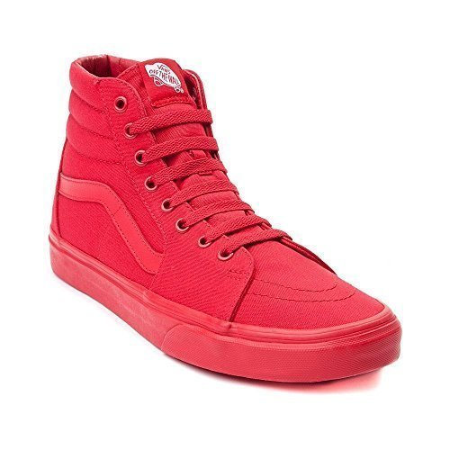 Vans Sk8 Hi Skate Shoe (Mens 7/Womens 8.5, Red) (Vans Red Women)