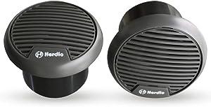 Herdio 3 Inch Waterproof Marine Speakers Full Range Audio Motorcycle Speaker Stereo System with MAX Power 140 W (Pair) for Motorcycle,Boat,Hot tub,UTV,ATV,Golf Carts,Powersports,CAR,SPA(Grey)