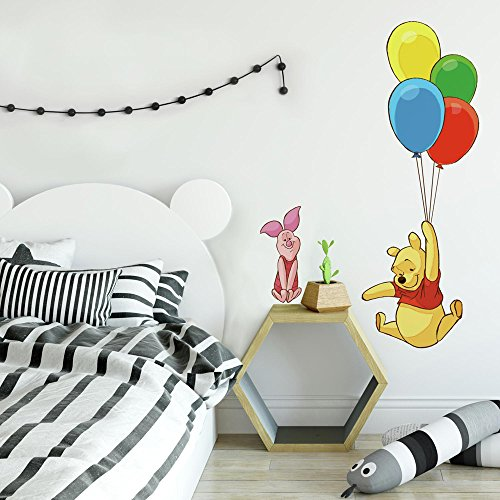 RoomMates Winnie The Pooh & Piglet Peel and Stick Giant Wall Decal ()