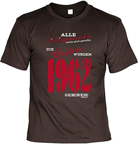 T-Shirt - Lieblingsmenschen - Die Besten wurden 1962 geboren - lustiges Sprüche Shirt als Geschenk zum 55. Geburtstag