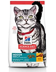Hill's Science Diet Adult Indoor Cat Food, Chicken Recipe Dry Cat Food, 4kg Bag