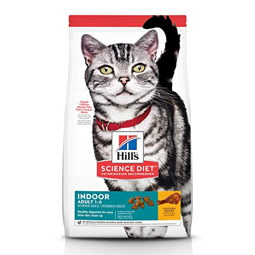 Hill's Science Diet Dry Cat Food, Adult, Indoor, Chicken Recipe, 7 lb bag