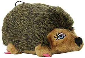 Outward Hound Kyjen  PP01128 Hedgehog Girl Plush Dog Toys Squeak Toy, Small, Brown