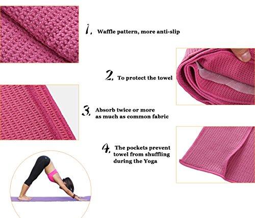Avanigo Non-slip Yoga Mat Towel, Skidless And Absorbent
