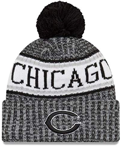 - New Era Chicago Bears Black & White 2018 Sport Knit NFL Beanie, OSFM