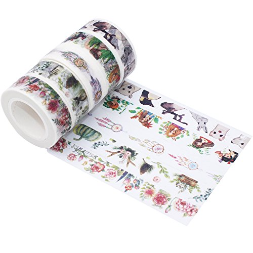 Japanese washi tape rolls decorative floral cute masking for Decorative paper rolls