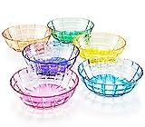 46 oz Unbreakable Premium Salad or Pasta Bowls - Set of 6 - Tritan Plastic - BPA Free - 100% Made in Japan (Assorted Colors)