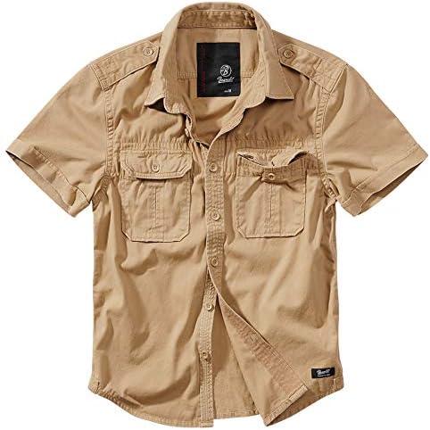 Brandit - Camisa retro de manga larga y manga corta, varios colores, tallas S a 7XL Manches Courtes Camel XXXXXL: Amazon.es: Ropa y accesorios