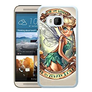 HTC ONE M9 Case,100% brand new Lovely Tinkerbell White Case For HTC ONE M9