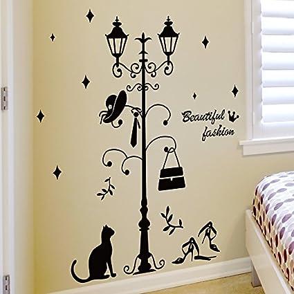 Amazon.com: MiniWall Wall Paintings Sticker Bedroom Door Coat ...