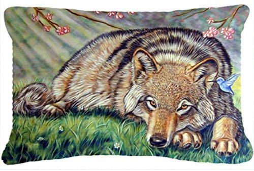 Caroline's Treasures 7356PW1216 Wolf & Hummingbird Fabric...
