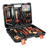 famibay 100 Piece Tool Sets House Tool Kit with Plastic Toolbox Storage Case for Household DIY(100 Pcs)