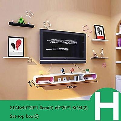 DIDIDD Set Top Box Rack Tv Decoración de la pared Tv Cabinet Living Room Wall Partitions Estantes de la pared del dormitorio Decoraciones de la pared (múltiples estilos disponibles),H: Amazon.es: Hogar