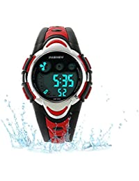 Kids Sport Watch Outdoor LED Sport Waterproof Electronic Quartz Watches for Boy Girls Kids Watch