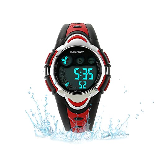 Kids Sport Watch Outdoor LED Sport Waterproof Electronic Quartz Watches for Boy Girls Kids