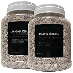 2 Pack 35 ounce (Total 70oz.) -Premium Laboratory Grade Zeolite Ammonia Reducer with Free Media Bag Inside Each Jar (2 Pack - 35oz. [70oz.])
