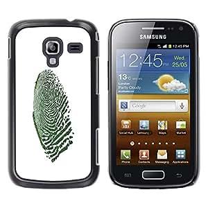 TECHCASE**Cubierta de la caja de protección la piel dura para el ** Samsung Galaxy Ace 2 I8160 Ace II X S7560M ** Fingerprint Macro