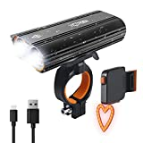 Victagen USB Rechargeable Bike Light Set, Super Bright 2400 Lumens and Rechargeable Bike Tail Light and Helmet light, Waterproof Bike Headlamp and Taillight Easy to Mount Fit Mountain Kids Bikes