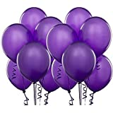 Syeer Balloons Thick Latex Kid's Party Balloons Purple, 100 Piece