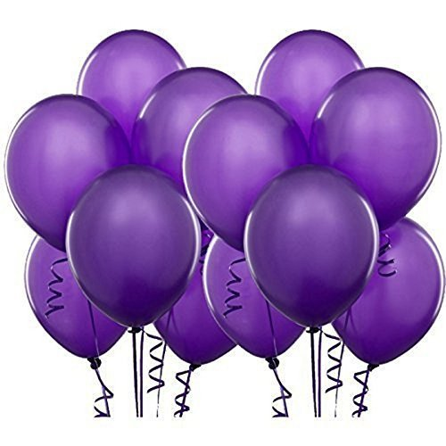Syeer Balloons Thick Latex Kid's Party Balloons Purple, 100 (Purple Latex Balloons)
