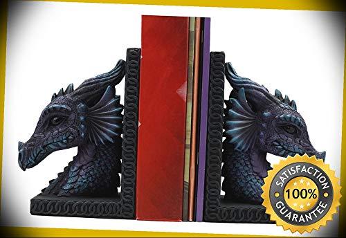 KARPP Dragon Beauty Nimrod Warrior Legendary Dragon Head Bookends Set of 2 Statue 7.5'' Perfect Indoor Collectible Figurines