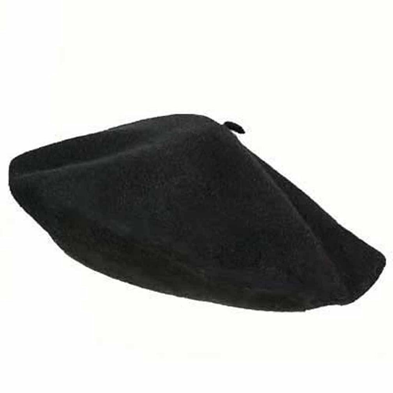 Luxury Divas Traditional Black Wool Tami Beret Cap Hat