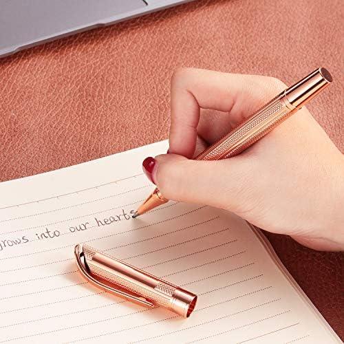 DanYee 高級ボールペン 専用替芯2本付き 筆記具 記念日 記念品 お父さん 結婚記念 彼氏 就職 昇進 メンズ 退職 祝い 誕生日 お祝い プレゼント バレンタイン ギフト (ピンクゴールド G5)