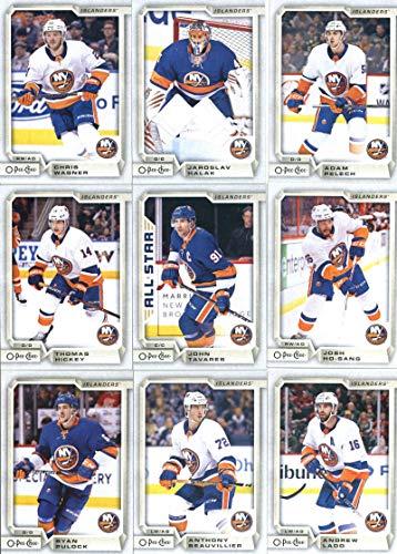 New York Islanders Team Jersey - 2018-19 O-Pee-Chee Hockey New York Islanders Team Set of 15 Cards: Mathew Barzal(#27), Josh Bailey(#43), Anders Lee(#67), Jordan Eberle(#85), Nick Leddy(#123), Brock Nelson(#168), Ryan Pulock(#182), Anthony Beauvillier(#231), Andrew Ladd(#268), Thomas Hickey(#335), John Tavares(#360), Josh Ho-Sang(#420), Chris Wagner(#437), Jaroslav Halak(#443), Adam Pelech(#482)
