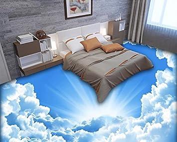 3d Fußboden Wolken ~ Lwcx d stock custom pvc boden roll fototapete sonnigen blauen