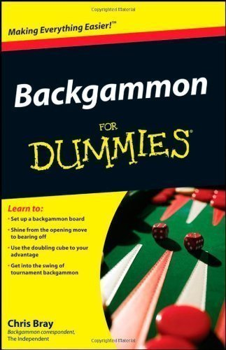 Backgammon For Dummies by Bray, Chris [Paperback(2008/11/3)]