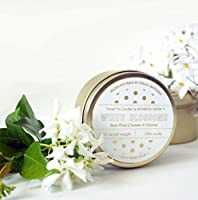 White and Gold Gardenia Jasmine Scented Candle (Travel Tin, White)