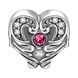 Soufeel Heart In Wings Charm 925 Sterling Silver Fit European Bracelets and Necklaces