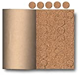 Cork Pads With Adhesive Back Keeps Objects From Sliding and Protects Surfaces (Pkg/4,000)