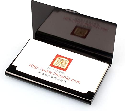 Malloom® Creativo Caja de Aluminio del Metal Tarjeta de Visita de crédito Monedero Tarjeteros (Negro): Amazon.es: Hogar