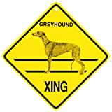 KC Creations Greyhound Xing Caution Crossing Sign Dog Gift