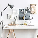 Craveit Plastic Decorative DIY Wall Pegboard Controller Closet Organization Storage (Grey) for Living Room, Kitchen, Bathroom, Office