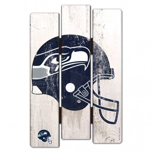 Decor Seattle Seahawks Home - Wincraft NFL Seattle Seahawks Wood Fence Sign, Black