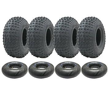 Parnells 4-145/70-6 - Juego de neumáticos y cámaras de Cuatro Ruedas 50cc 90cc 110cc 75 kgs - Neumático Wanda P319 Quad: Amazon.es: Jardín