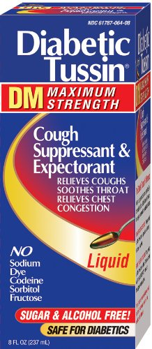 (Diabetic Tussin DM Cough Suppressant-Expectorant, Maximum Strength, 8-Ounce (237 ml) (Pack of 2))