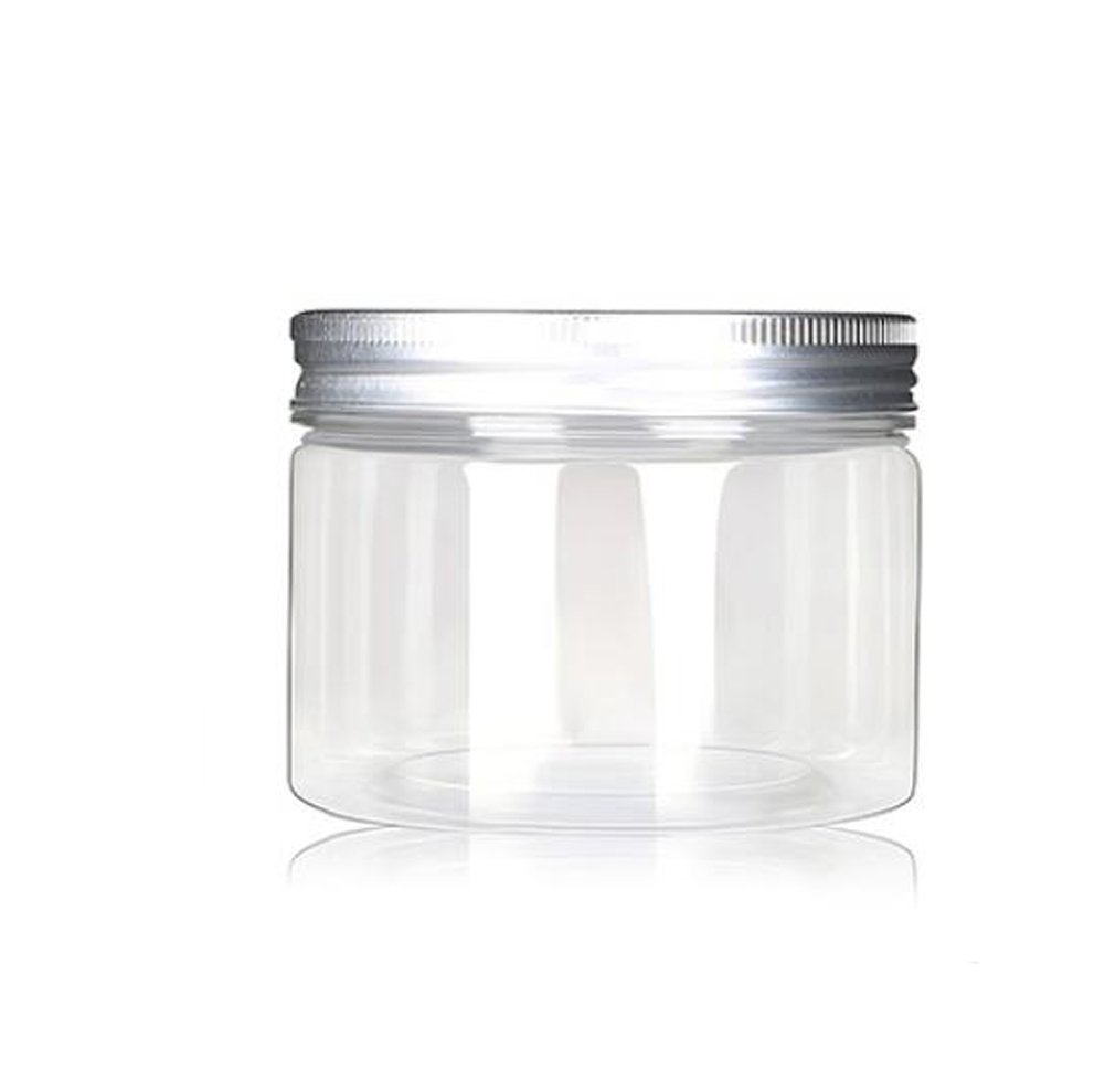 120ml/4 Oz Jars PET Plastic Empty Cosmetic Containers Cases with Silver Aluminum Caps Cream Lotion Box Ointments Bottle Food Bottle Makeup Pot Jar Pack of 6 erioctry