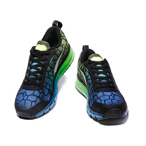 Onemix Men Lightweight Mesh Air Cushion Outdoor Sport Running Shoes Sky Blue / Green wEubX
