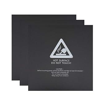 SOOWAY 3 PCS Impresora 3D Heat Bed Plataforma Hoja de calcomanías ...