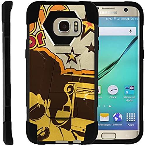 TurtleArmor | Samsung Galaxy S7 Edge Case | G935 [Dynamic Shell] Absorbent Impact Proof Case Silicone Hard Kickstand Cover Music Design Collection - Hip Sales