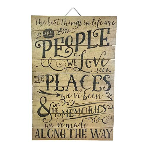 (Imprints Plus The Best Things in Life are People Wood Sign, 12