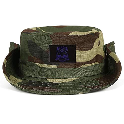 ERTUPBNXD Acadia National Park Maine 1916 Fishing Hats for Women Men Tourism Breathable Bucket ()
