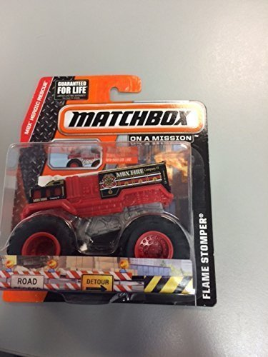 MatchBox mbx heroic rescue FLAME STOMPER fire truck red ()