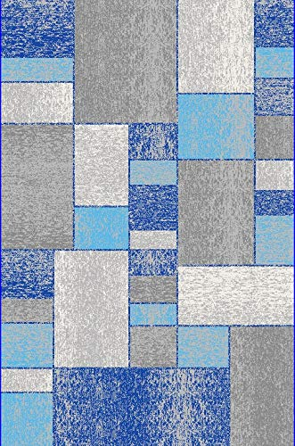 Rugshop Distressed Squares Geometric Area Rug, 7'10