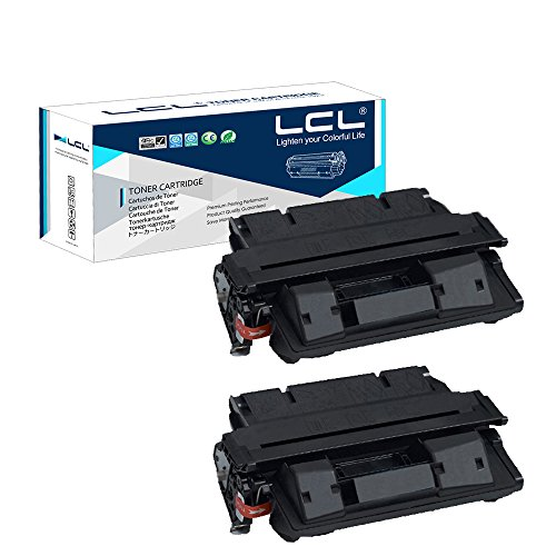 - LCL Compatible Toner Cartridge Replacement for HP 27A 27X C4127A C4127X EP-52 EP-52X 10000 Page 4000 4000N 4000T 4050 4050N LBP-1760 (2-Pack Black)